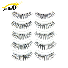 Get more info on the YALIAO 5Pairs False Eyelashes 3D Mink Lashes Eyelash Extension Natural Long Soft Party Wedding Club Beauty Makeup Tool Black