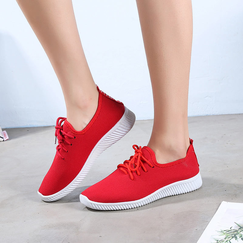 Women Fashion Shoes Woman Breathable Lightweight Lace-up Shoes Women Sneakers for Running Walking Trainer Casual FootWear(China)