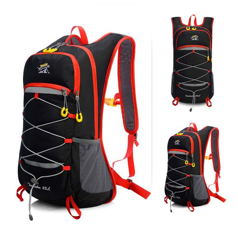 25L Outdoor Climbing Hiking Cycling Backpack Breathable Vest Marathon Running Cycling Backpack Bike MTB Riding Bicycle Bag