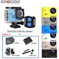 Original soocoo c30r 4 k wi-fi giroscópio remoto à prova d' água câmera de vídeo de ação esporte dv + bateria extra + carregador + selfie vara + carregador de carro