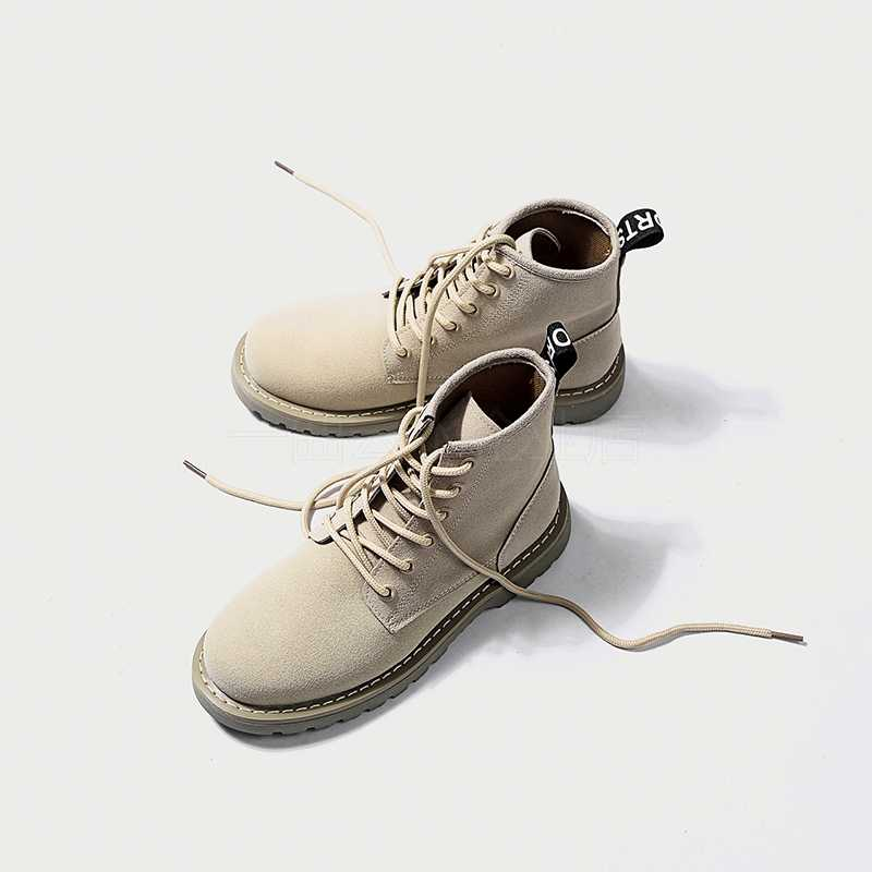 GOXPACER 2018 แฟชั่น VINTAGE รองเท้าบูทรองเท้าผู้หญิง Martin BOOTS ข้อเท้ารองเท้าส้นสูงรองเท้าบู๊ตรถจักรยานยนต์สูง Wedges รอบ Toe FLOCK ใหม่
