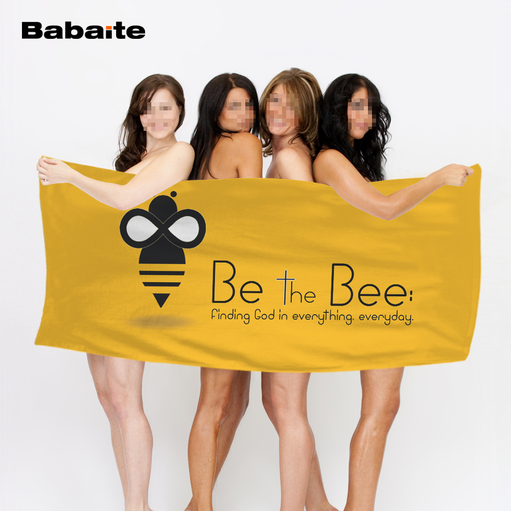 Babaite Be the Bee Find God in Everyghing Everyday Many Honeybees Bath Beach Towel Swimming Wrap Pool Sheet Adult Kids Blanket