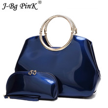 2pcs New Luxury Designer Patent Leather Women Tote Bag Fashion Handbag Famous Brand Ladies Lacquered Handbag Bags Bolsa Feminina