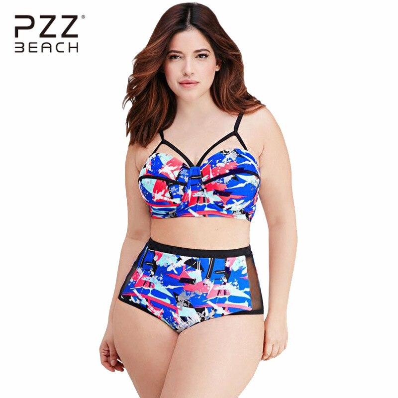 High Waist Bikini Set Plus Size Swimwear Large Size ...