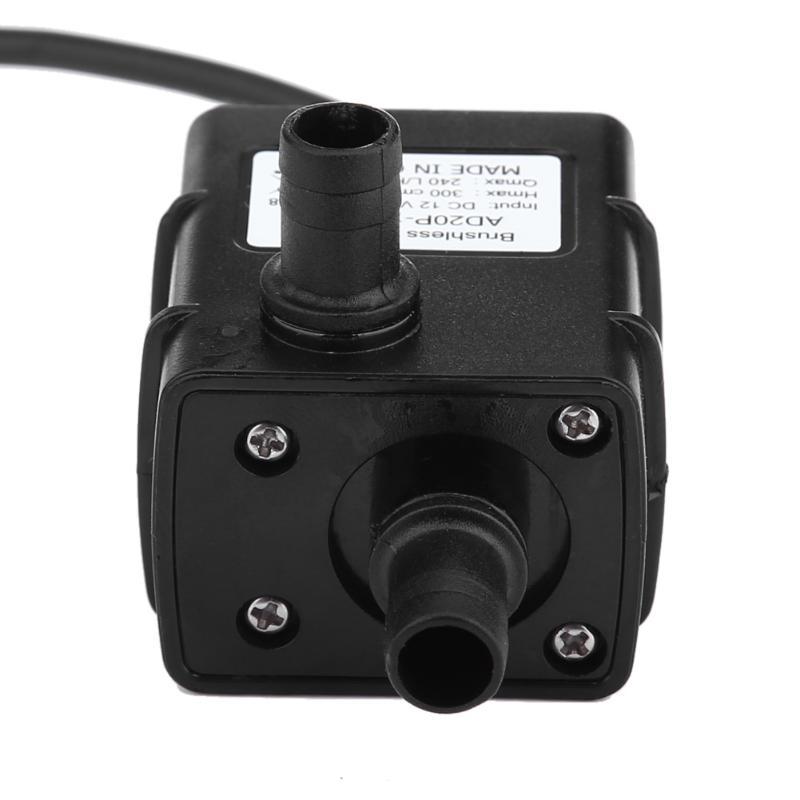 цена на Waterproof Ultra-quiet Mini 12V 5W 240L/H Micro Brushless DC Water Pump Submersible Diaphragm Aquarium Circulating