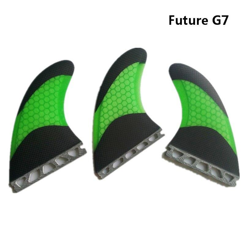 Surf Future-Fins-G7 Quilhas FCS Planche De Surf Bicolor de 3 Couleurs Fin En Fiber De Verre Honeycomb Avenir G7 Fin conseil sup de Bonne Qualité Ailettes