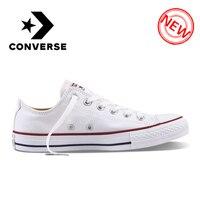 Converse Оригинальные кроссовки ALL STAR классические дышащая холщовая обувь с низким верхом, Скейтбординг унисекс; обувь больших размеров Аутент...