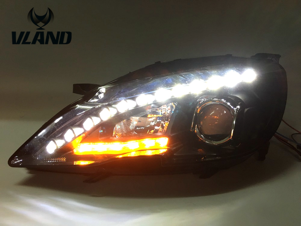 Free shipping vland factory for Peugeot 408 headlamp 2014 2015 2016 LED headlight HID with Daytime running light!high brightness free shipping vland factory for mitsubishis 2013 2014 2015 pajero sport drl led daytime running light with turn lights