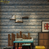beibehang papel de parede 3d Vintage wood grain wallpaper dining room TV background wall wallpaper pvc roll brick wall paper