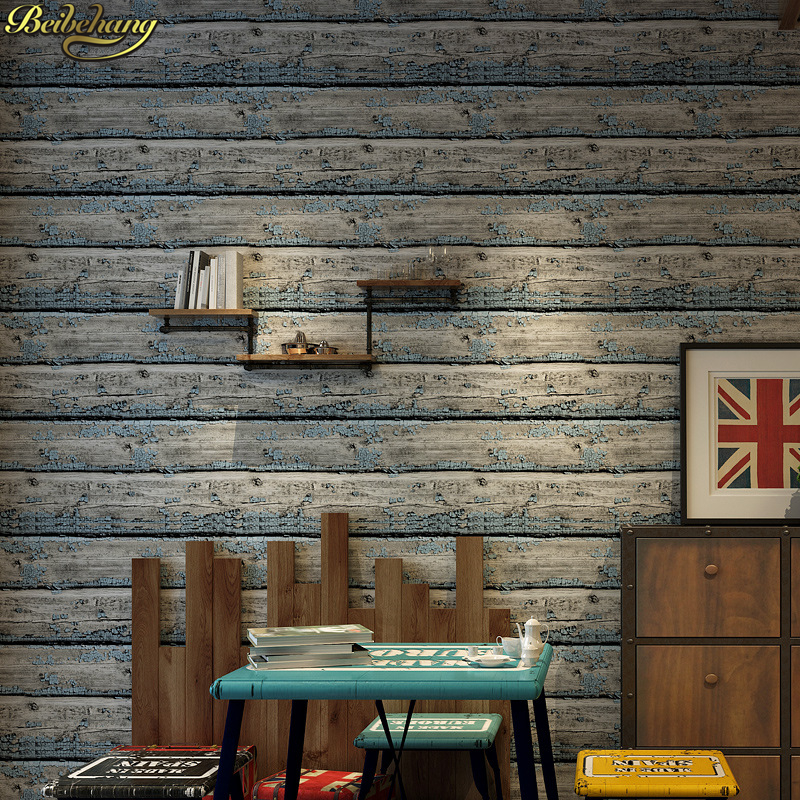 beibehang papel de parede 3d Vintage wood grain wallpaper dining room TV background wall wallpaper pvc roll brick wall paper beibehang papel de parede vintage geometric modern wallpaper pvc embossed dining room brick background wall wallpaper for livin