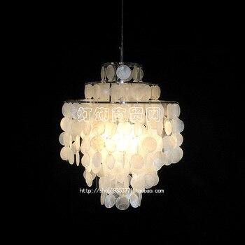 Морской рок ракушек подвесной светильник натуральный корпус лампа оболочка подвеска-колокольчик светильник подвесной светильник FG262