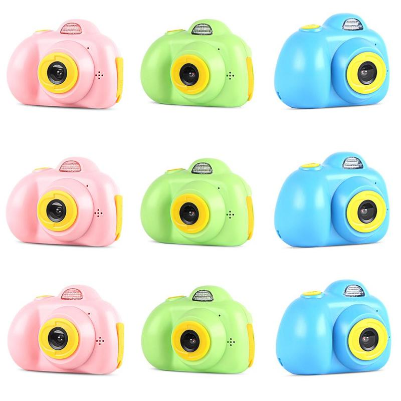 Kids Mini 32G SD Card Electronic Cameras Toy Children Mini Digital 2.0 Inches Fixed Lens 100 Degree Photo Camera Educational Toy