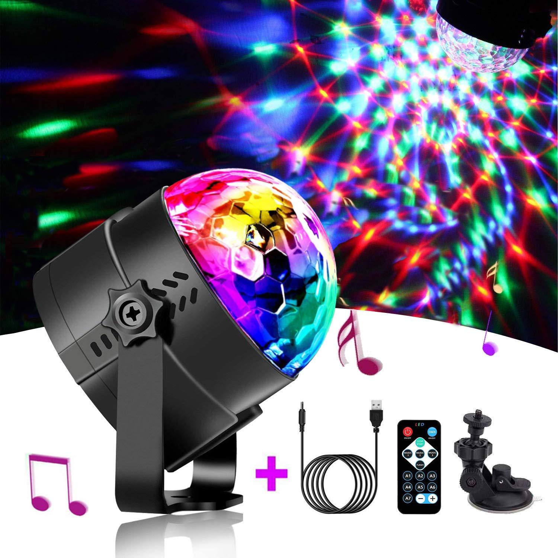 Dj Disco Magic Ball Moving Head Crystal Stage Light Party Lights RGB Lighting Effect Dmx Voice Remote Lamp USB Lumiere KTV