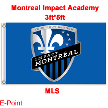 1 piece 144cm*96cm size MLS Montreal Impact Academy Flying flag
