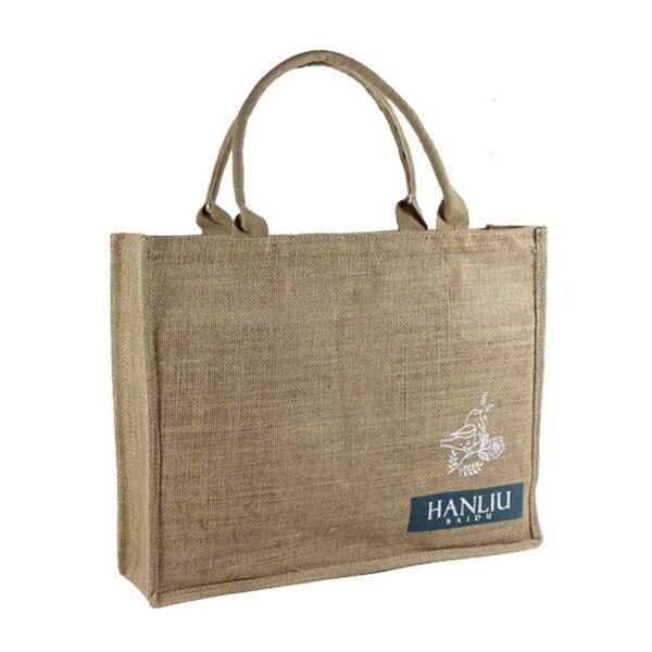 306c0b38c Personalizado ecológico Bolsa De yute bolsa de la compra personalizada bolsas  promocionales