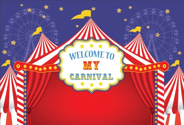 7x5ft Welcome Carnival Circus Tent Stage Ferris Wheel