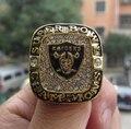 FreeShipping высокого качества Ювелирных Изделий Oakland Raiders Супер Боул XVIII Чемпионат Кольцо твердые сувенир Спорта мужчины вентилятор подарок оптовая