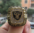 FreeShipping alta qualidade Jóias Anel Oakland Raiders Super Bowl XVIII Campeonato lembrança sólida dos homens Do Esporte dom fã atacado