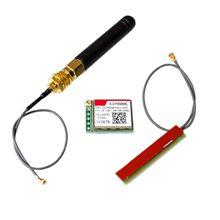 10ピース/ロットSIM800Lワイヤレスgsm gprsモジュールクワッドバンドw/アンテナケーブルキャップ