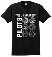 PILOT 6 PACK BEER AVIATOR AIRPLANE FLYER DRONE GEAR MENS FUNNY T SHIRT Hip Hop Funny Tee,Fashion Style Men Tee,2019 Hot Tees