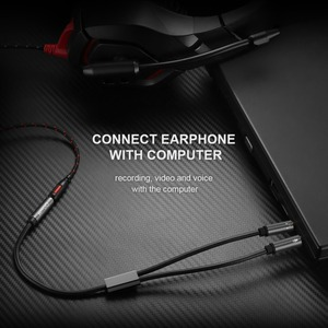 Image 3 - QGEEM Splitter Headphone for Computer 3.5mm Female to 2 Male 3.5mm Mic Audio Y Splitter Cable Headset to PC Adapter AUX  Cable