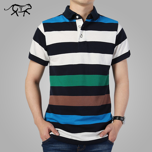 0900be3a 2018 Summer Striped Polo Shirt Fashion Men Short Sleeve Classic Polo  Turn-down Collar Polos Hombre Men's Casual Brand POLO M-4XL