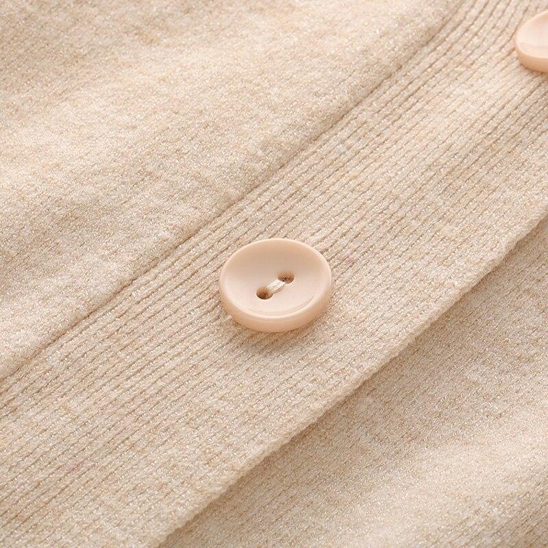 2018 Robes Pièce Nouveau 2 Tricoté Automne Femmes Robe Court Chandails See Cardigans Chart Bouton Ensembles Solide see Hiver Élégant Et Chart Mince Longue w5UqXXE