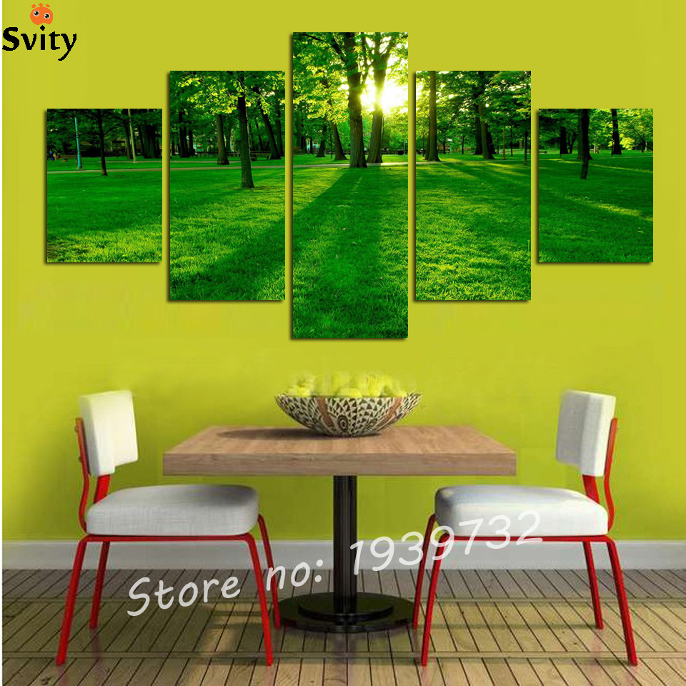 5 digital photo wall stickers home decor art painting on canvas ...