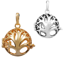 10H-O 10PCS Vintage Harmony Bola Love Tree Cage Charms Pendant Fit 20mm Ball FamilyTree Aromatherapy Lockets Pendants Jewelry