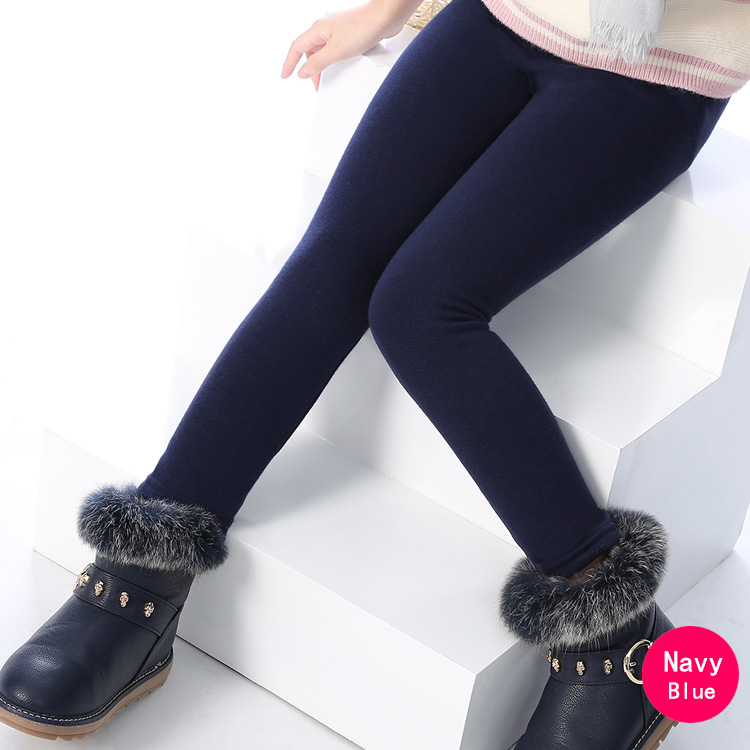 SheeCute/новые модные детские От 3 до 11 лет; сезон весна-осень-зима; теплые хлопковые брюки для девочек; детские брюки; леггинсы с принтом - Цвет: Purenavy