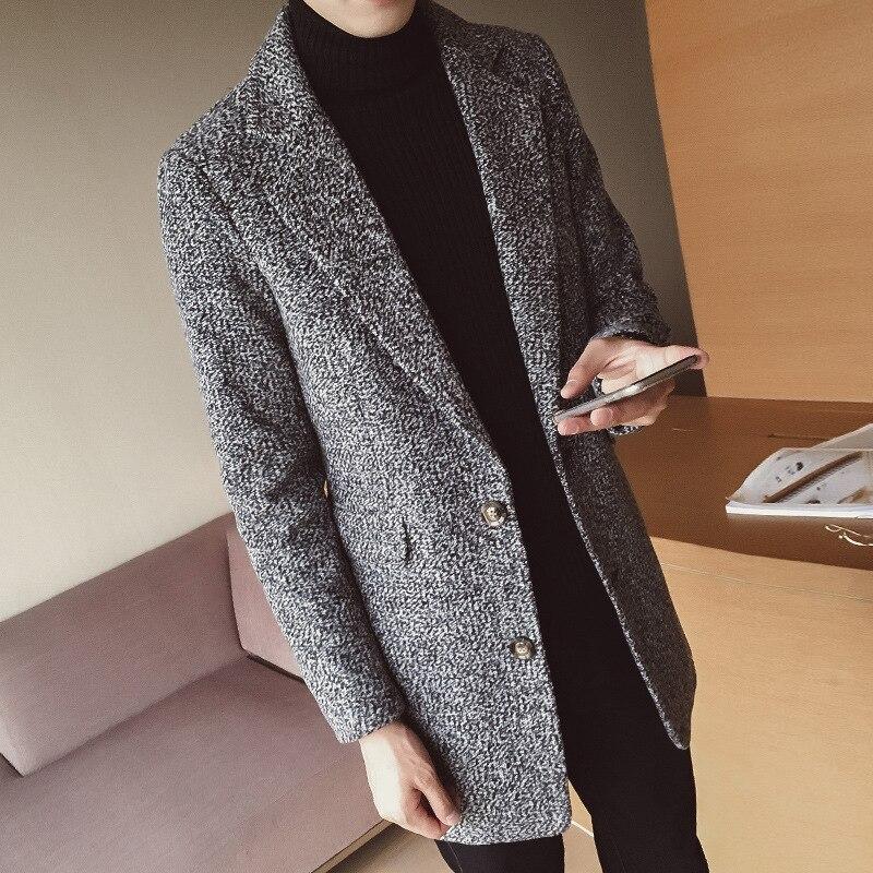 100% Wahr Mrmt 2018 Marke Winter Neue Männer Der Jacken Woolen Mantel Für Männliche Junge Medium Länge Windjacke Casual Woolen Mantel