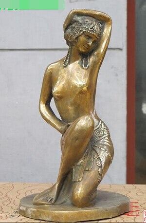 007747 13 Western Книги по искусству красивый Святой богиня Бронзовый Книги по искусству Nude Венера Скульптура статуя