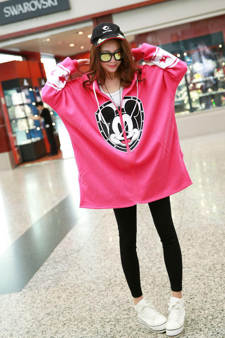 6cba1eb9f3f33 2014 New Swag Clothes Sweatshirt Women Casual Catton Plus Size Cartoon  Mickey Printed Cardigan Hoodies Dropshipping Hot Sale