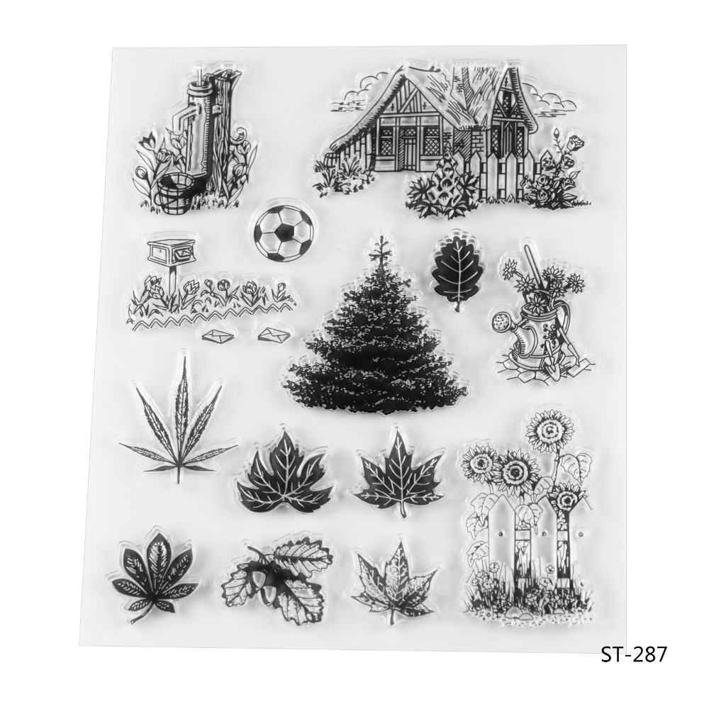 Contry life Transparent Clear Silicone Stamp/seal for DIY Scrapbooking/photo Album Decorative Clear Stamp Sheets. lovely animals and ballon design transparent clear silicone stamp for diy scrapbooking photo album clear stamp cl 278