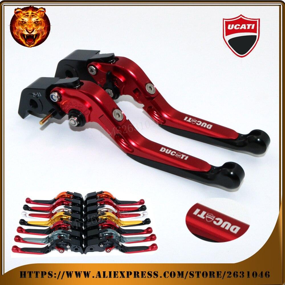Для Ducati 1100 ХАЙПЕРМОТАРД/с/Эво СП мото МОТОСАЛОН красный черный оранжевый мотоцикл Регулируемая Складная выдвижная тормоз сцепление Леве
