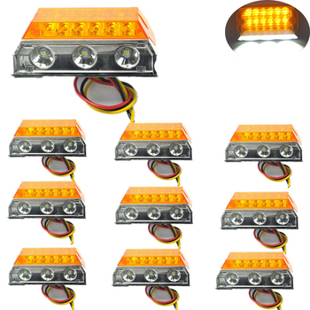 10 pcs Car LED Clearance Lights Side Marker Lamps for Automobiles Truck Trailer Caravan 24V HEHEMM