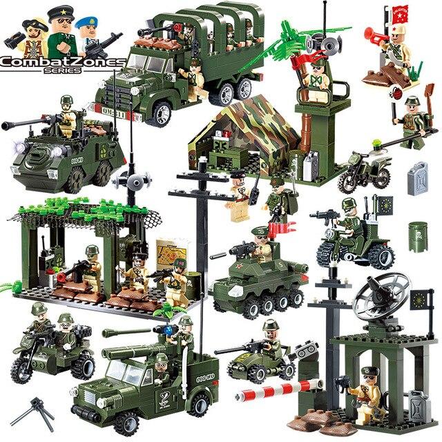 Soldaten Armee Bausteine Spielzeug Wars Hero Lkw Auto Panzer Moto Waffe fakten Mit Lego Kompatibel militär Für Kinder
