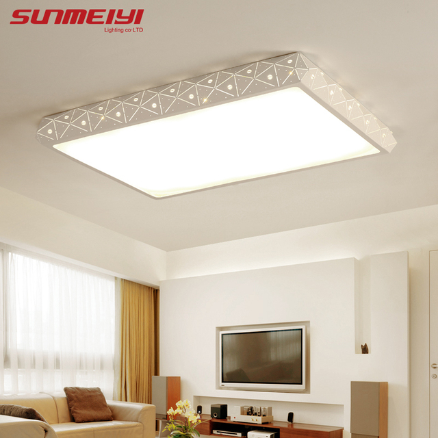 Square Long Shape Led Ceiling Lights Living Room Kitchen Balcony Modern Luminarias De Lamp