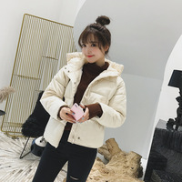Sustans padded cotton short hooded loose windproof warm down jacket made of high quality knitted fabric women's winter jackets