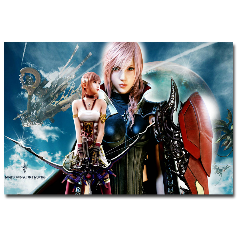 "Final Fantasy FF XIII Lightning Game Art Silk Poster Print 13x20 24x36/"" 015"