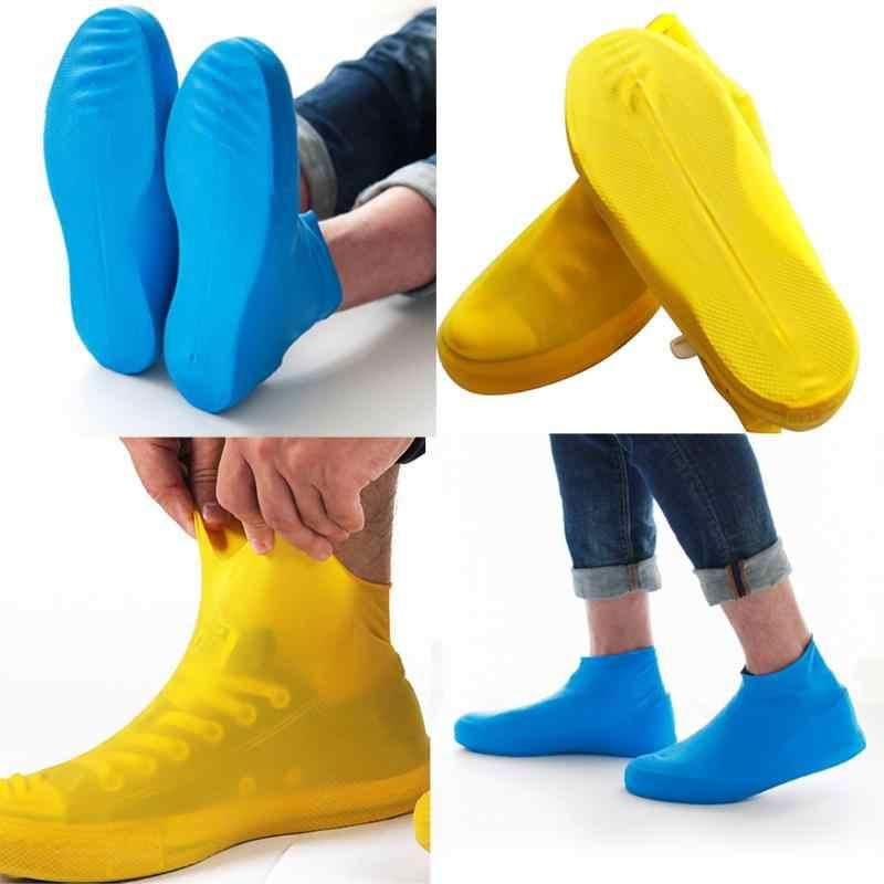 Nuovo Anti-skid Riutilizzabile Cusodie per scarpe per Gli Uomini Le Donne Pioggia Stivali antiscivolo Copriscarpe Impermeabile di Copertura Della Pioggia Scarpe Accessori