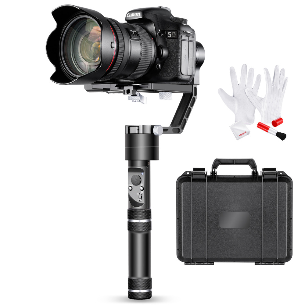 Neewer Crane V2 3 Axis Handheld Gimbal Stabilizer 32Bit MCUs Brushless Motors Cleaning Kit for DSLR and Mirrorless Camera CanonM yuneec q500 typhoon quadcopter handheld cgo steadygrip gimbal black