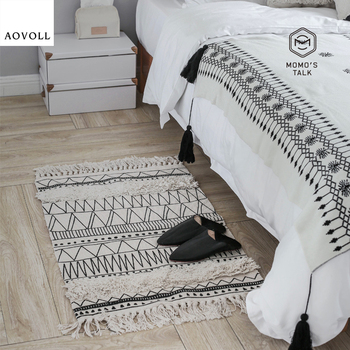 AOVOLL Carpets For Living Room Cotton Nordic Simple Soft Large Bedroom Kid Room Rugs Home Carpet Floor Door Mat Fashion Area Rug