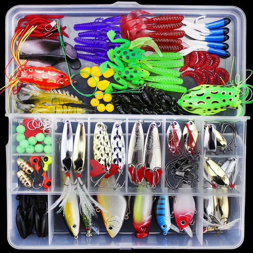 Fishing Lure Set 141pcs Artificial Bait Plastic Lures Minnow Popper Pencil Crank Sea Ice Saltwater Freshwater Crankbaits Lures in Fishing Lures from Sports Entertainment