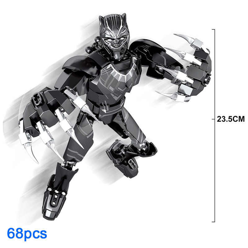 Vingadores Marvel Thanos Pantera Negra Kazi Montar Building Block Toy Deadpool Groot Técnica Spiderman Figuras Boneca de Brinquedo