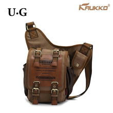 Hot 2016 Original KAUKKO Brand Retro Vintage Canvas Bag Travel Men Messenger Bag Man Crossbody Bags Shoulder Bags for Men