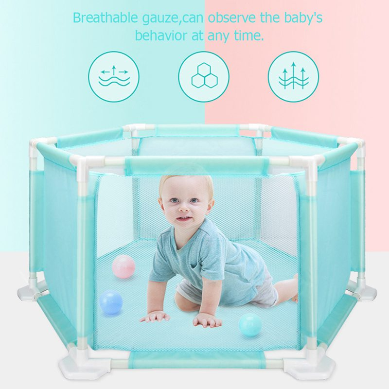 Portable Baby Safety Fence Playpen for Children Kid Folding Security Ball Pool Barriers Baby Safety Fence Playpen Ten House Play цены онлайн