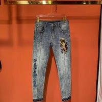 AH02757 модные для мужчин's джинсы для женщин 2019 взлетно посадочной полосы Роскошные известный бренд Европейский дизайн вечерние стиль