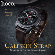 HOCO Classic Frontier Style Genuine Leather Bracelet for Samsung Gear S3 Brown Strap Buckle For Smart Watch