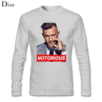 Conor Mcgregor Base T Shirts Custom Long Sleeve Couple MMA Fighter T Shirts Men